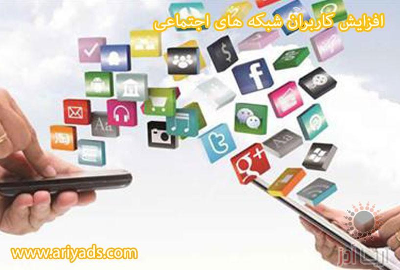 تصویر شماره افزایش کاربران شبکه های اجتماعی ( بخش دوم )